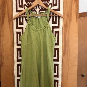Athleta Green Cotton Dress